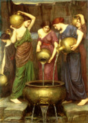Fountain Paintings - Danaides by John William Waterhouse