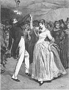 Ball Gown Photo Metal Prints - Dance, 19th Century Metal Print by Granger