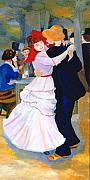 Bougival Prints - Dance At Bougival after Renoir Print by Rodney Campbell