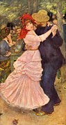 Auguste Renoir Prints - Dance at Bougival  Print by Extrospection Art