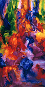 Colours Paintings - Dance by Bayo Iribhogbe