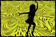 Trippy Mixed Media Posters - Dance Poster by Bill Cannon