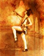 Dancing Girl Metal Prints - Dance Metal Print by Cathie Tyler