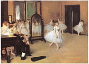 Ballerinas Framed Prints - Dance Class Framed Print by Edgar Degas