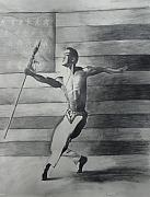 Black Drawings Originals - Dance for Freedom by Stacy V McClain