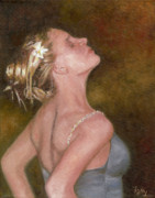 Dancing Girl Paintings - Dance For Her Father by Freida Petty