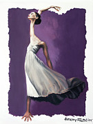 Dancing Girl Framed Prints - Dance For Him Framed Print by Anthony Falbo