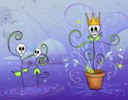 Sugar Skulls Digital Art - Dance for the May Queen by Tammy Wetzel