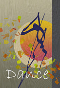 Free-form Framed Prints - Dance Framed Print by Gordon Beck