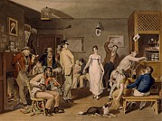 Social Life Prints - Dance In A Country Tavern, With People Print by Everett