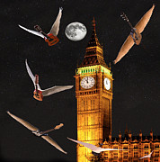 Flying Guitars Digital Art - Dance In The Dark by Eric Kempson