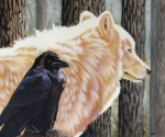 Raven Paintings - Dance in the Light by Sandi Baker