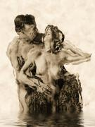 Nude Couple Digital Art - Dance by Kurt Van Wagner
