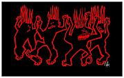 Aboriginal Art Digital Art - Dance Macabre II by Dan Daulby
