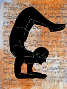 Woodcut Originals - Dance man by Ariela Boronat