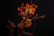 Violin Digital Art - Dance me to your beauty with a burning violin  by Andy  Gii
