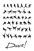 Break Dance Prints - Dance Print by Netta Canfi