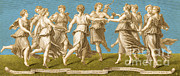 Muses Photos - Dance Of Apollo With The Nine Muses by Photo Researchers
