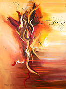Abstract Dance Painting Originals - Dance of Passion by Michelle Wiarda