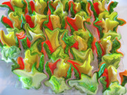 Asparagus Digital Art - Dance of the Appetizers by Kathy Moll