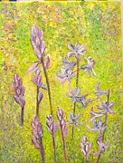 Bluebells Paintings - Dance of the Bluebells by Bridie  Smyth