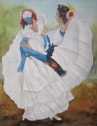 Mexican Fiesta Posters - Dance of the Butterflies Poster by Kim Bumpus