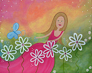 Dancing Girl Paintings - Dance of the Butterfly by Samantha Shirley