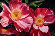 Fushia Art - Dance of the Peonies by Billie Colson