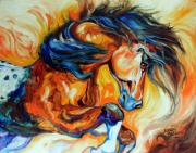 Oil  Gallery Paintings - DANCE of the WILD ONE by Marcia Baldwin