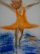 Abstracts Pastels - Dance on the Water by Laurette Escobar