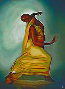 Byron Fli Walker Framed Prints - Dance Scene III Framed Print by Byron Fli Walker
