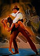 Piano Man Posters - Dance Scene XV Poster by Byron Fli Walker