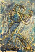 Happy Sculpture Prints - Dance The Night Away With Me Print by Rochelle Carr