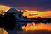 Jefferson Memorial Tapestries Textiles - Dance the Tides by Mitch Cat