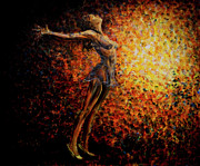 On Stage Paintings - Dancer 03 by Nik Helbig