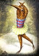 Paiting Metal Prints - Dancer 3 Metal Print by Lolita Bronzini