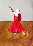 Ballroom Painting Originals - Dancer by Cathy Jourdan