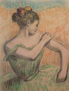 Ballet Dancers Pastels Metal Prints - Dancer Metal Print by Degas