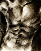Muscle Drawings Metal Prints - Dancer Metal Print by Hiroko Sakai