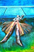 Stage Tapestries - Textiles Originals - Dancer III-225 by Mirinda Reynolds