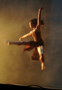 Stage Mixed Media Originals - Dancer In Flight by Scott Lightfoot