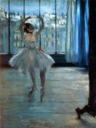 Tutu Painting Posters - Dancer in Front of a Window Poster by Edgar Degas