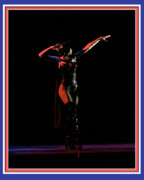 Dominatrix Prints - Dancer in Red Print by Laurie Comfort