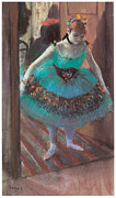 Dressing Room Metal Prints - Dancer leaving Her Dressing Room Metal Print by Edgar Degas