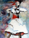 Jazz Drawings Prints - Dancer Print by Mindy Newman