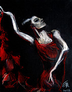 Hands Pastels Prints - Dancer Print by EMONA Art
