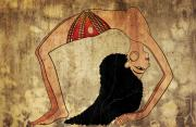 Dancer Art Mixed Media Prints - dancer of Ancient Egypt Print by Michal Boubin