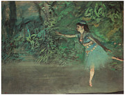 Dancer Paintings - Dancer on the Stage by Edgar Degas