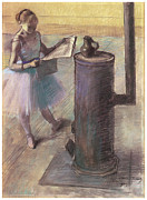 Ballet Art Prints - Dancer Resting Print by Edgar Degas