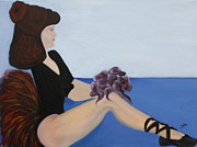 Two Tone Shoes Prints - Dancer with Calla Lillies Print by Jolanta Anna Karolska